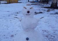"""Перша робота в рамках конкурсу """"Креативний сніговик"""""""