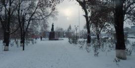 Довгоочікуваний сніг у Роздільній, фото