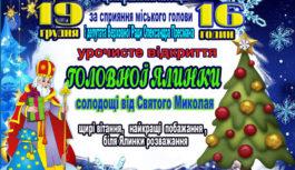 Відкриття новорічної ялинки відбудеться у Роздільній 19 грудня