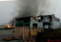 В Степановке загорелся цех по переработке чеснока
