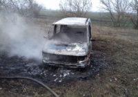 За межами с. Кучурган рятувальники ліквідували пожежу мікроавтобуса
