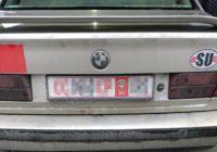 Прикордонники затримали іноземця на автомобілі з фейковими номерами та радянською символікою