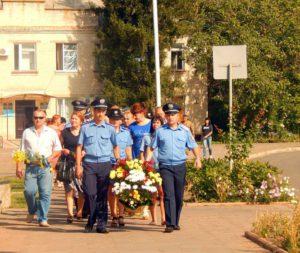 м. Роздільна, покладання квітів до меморіалу загиблих правоохоронців, 2016 рік
