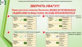 Як правильно заповнити виборчий бюлетень 25 жовтня, аби Ваш голос було враховано?